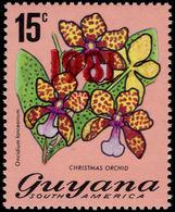 Guyana 1981 15c Christmas Orchid 1981 Perf 14 Unmounted Mint. - Guyana (1966-...)