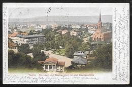 Czech Republic / Austria - Teplitz Schonau (Teplice) - Colour Panorama Posted To Wien 1903 - Czech Republic