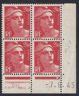 FRANCE Francia Frankreich -  1945 - Coin Daté Yvert 714, Nuovo MNH. - 1940-1949