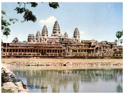 (720) Cambodia (with Older Stamp) Siemrear Temple - Cambodia