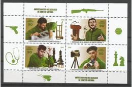 Cuba 2018 90th Anniversary Of Ernesto Che Guevara's Birthdate M/S (Chess, Tobacco, Army, Medicine, Radio) - Ajedrez