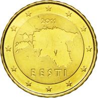 Estonia, 10 Euro Cent, 2011, SPL, Laiton, KM:64 - Estonia