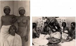 """Madagascar 1920 Environ  Femmes D'une Tribu Malgache Seins Nu Et Photo """" Le Serment Du Sang """"  (SP1661) - Madagascar"""