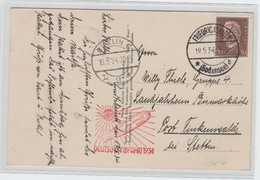 Deutsches Reich , Zeppelinkarte , Deutschlandfahrt 1934 - Deutschland