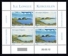 TAAF 2012 View Of île Longue, Kerguelen: Sheetlet Of 4 Stamps UM/MNH - Blocs-feuillets