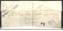 Montbron (Charente) : Cursive Double 15/Montbron/La Rochefoucauld Sur LAC 1837, Correspondance Locale Distribution - Marcophilie (Lettres)