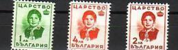 1937 Effigie De La Princesse Marie-Lousie 3 V-neuf / MNH** BULGARIE  / Bulgaria - 1909-45 Kingdom