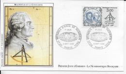 75.- PARIS  Maupertuis Et La Condamine  1986  Premier Jour D' émission - FDC