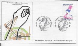 38.- VOIRON .- Centenaire Des Ecoles Nationales Professionnelles   1986 Premier Jour D' émission - 1960-1969