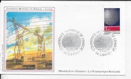 86.- CANNES .- Coference Mondiale De L' Energie    1986 Premier Jour D' émission - 1960-1969