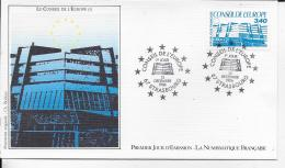 67.- STRASBOURG .- LE CONSEIL DE L' EUROPE   1986 Premier Jour D' émission - 1960-1969