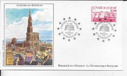 67.- STRASBOURG .- LE CONSEIL DE L' EUROPE   1986 Premier Jour D' émission - FDC