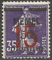 Memel (Klaipeda) - 1921 Sower Overprint 15pf/50pf/35c MLH *   Mi 48  Sc 45 - Memel (1920-1924)