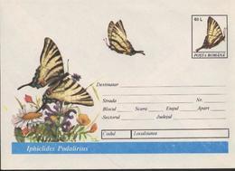 Papillon IPHICLIDES PODALIRIUS     Entier Postal  Roumanie / Romania 1994 - Papillons