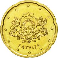 Latvia, 20 Euro Cent, 2014, SPL, Laiton, KM:154 - Lettonie