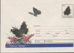 Papillon VANESSA ANTIOPA   Entier Postal  Roumanie / Romania 1994 - Papillons
