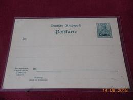 Entier Postal De Chine (surcharge CHINE Sur Entier Allemand) Avec Carte Reponse Attachee - Offices: China