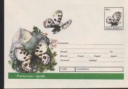 Papillon PARNASSIUS APOLLO   Entier Postal - Roumanie / Romania 1994 - Papillons