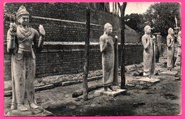 Restored Statues At Ruanweli Dagoba - Anuradhapura - PLATE Ltd N° 49 - Sri Lanka (Ceylon)