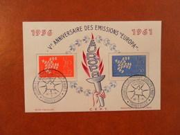 FRANCE SOUVENIR 5ème ANNIVERSAIRE EMISSIONS EUROPA - CHARLEVILLE - Curiosidades: 1960-69 Cartas