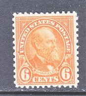 U.S.  638    Perf.  11 X 10 1/2   **      1927  Issue - United States