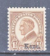 U.S.  659    **    KANSAS  OVPT.   1929  Issue - Etats-Unis