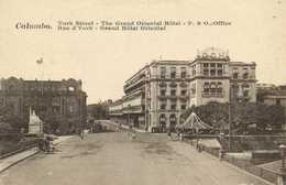 Colombo Rue D'York Grand Hotel Oriental  RV - Sri Lanka (Ceylon)