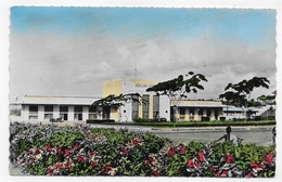 (RECTO / VERSO) COTE D' IVOIRE EN 1952 - ABIDJAN - N° 44754 - LA GARE LAGUNE  - BEAU TIMBRE - FORMAT CPA VOYAGEE - Ivory Coast