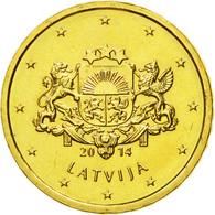 Latvia, 10 Euro Cent, 2014, SPL, Laiton, KM:153 - Lettonie
