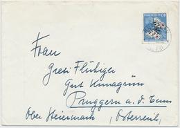 J162 / 622 Pro Juventute Höchstwert 1955 Auf Portogerechtem Auslandbrief Brief Rüegsau Nach Steiermark - Lettres & Documents