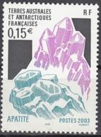 TAAF 2003 Yvert 361 Neuf ** Cote (2015) 1.00 Euro Minéral Apatite - Terres Australes Et Antarctiques Françaises (TAAF)
