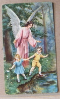 MONDOSORPRESA, (ST347) SANTINO, SANTINI, ANGELO CHE PROTEGGE I BAMBINI - Images Religieuses