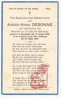 DP Baby - Agnes A. DeBonne / Delrue ° Wevelgem † 1930 - Images Religieuses
