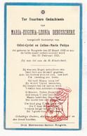 DP Kind - Maria E. Debusschere / Pattyn ° Hooglede 1932 † 1933 - Images Religieuses