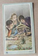 MONDOSORPRESA, (ST357) SANTINO, SANTINI, BAMBINI CON PRESEPE 1958 - Images Religieuses