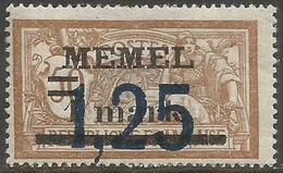 Memel (Klaipeda) - 1922 Merson Overprint 1.25m/1m/50c MLH *   Mi 50  Sc 48 - Memel (1920-1924)