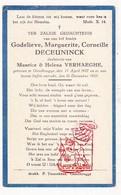 DP Baby - Godelieve M. DeCeuninck / VerHaeghe ° Gentbrugge Gent † 1927 - Images Religieuses