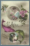 CPA - POISSON D'AVRIL - JEUNES FEMMES - 1er Avril - Poisson D'avril