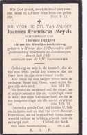 Wortel, Zondereigen, 1930, Joannes Meyvis, Deckers - Images Religieuses