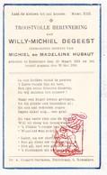 DP Baby - Willy M. DeGeest / Hubaut ° Roeselare † 1934 - Images Religieuses