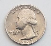 QUARTER DOLLAR,LIBERTY,1967 - Emissioni Federali