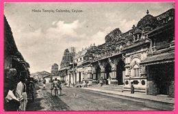 Colombo - Hindu Temple - Temple Hindou - Charrette - Animée - PLATE Ltd N° 61 - Sri Lanka (Ceylon)