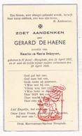 DP Kind - Gerard De Haene / DeKeyser ° St.-Jozef Hooglede 1937 † 1938 - Images Religieuses