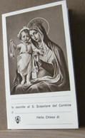 MONDOSORPRESA, (ST364) SANTINO, SANTINI, ISCRIZIONE S. SCAPOLARE DEL CARMINE - Images Religieuses