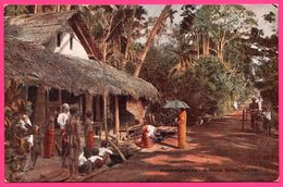 Ceylon - Boralesgamuwa - A Rural Scene - Bullock - Animée - PLATE Ltd N° 68 - Colorisée - Sri Lanka (Ceylon)