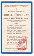 DP Pasgeborene - Ghislain DeKnudt / Roussel - Wulvergem 1934 Heuvelland - Images Religieuses