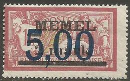 Memel (Klaipeda) - 1922 Merson Overprint 5m/2m/1f MLH *    Mi 51  Sc 49 - Memel (1920-1924)