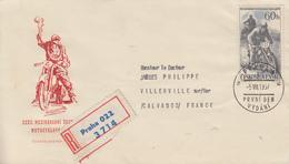 Enveloppe  FDC  1er  Jour    TCHECOSLOVAQUIE   32éme  Course   Motocycliste  Des  6  Jours    1957 - Moto