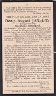 Baarle-Hertog, Turnhout, 1937, Denis Jansen, Brosens - Images Religieuses