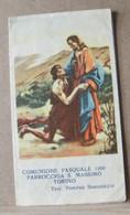 MONDOSORPRESA, (ST366) SANTINO, SANTINI, COMUNIONE PASQUALE 1950 - Images Religieuses